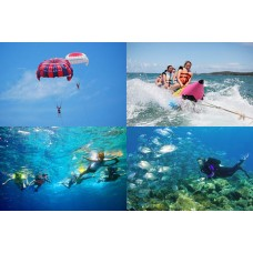 Water Blow, Parasailing, Banana Boat, Tubing Ride, Uluwatu Temple