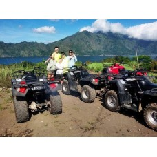 Tandem ATV ride in Mount Batur, Hot Spring